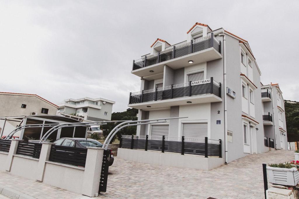 Grey Villas Apartments during the winter