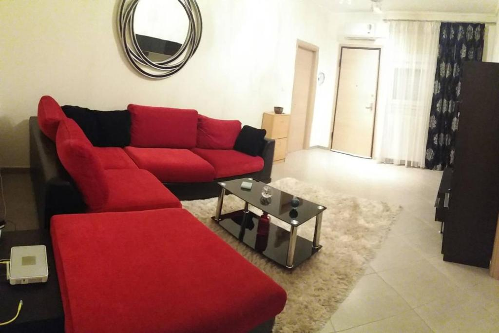 A seating area at Luxury apartment near the center of Thessaloniki