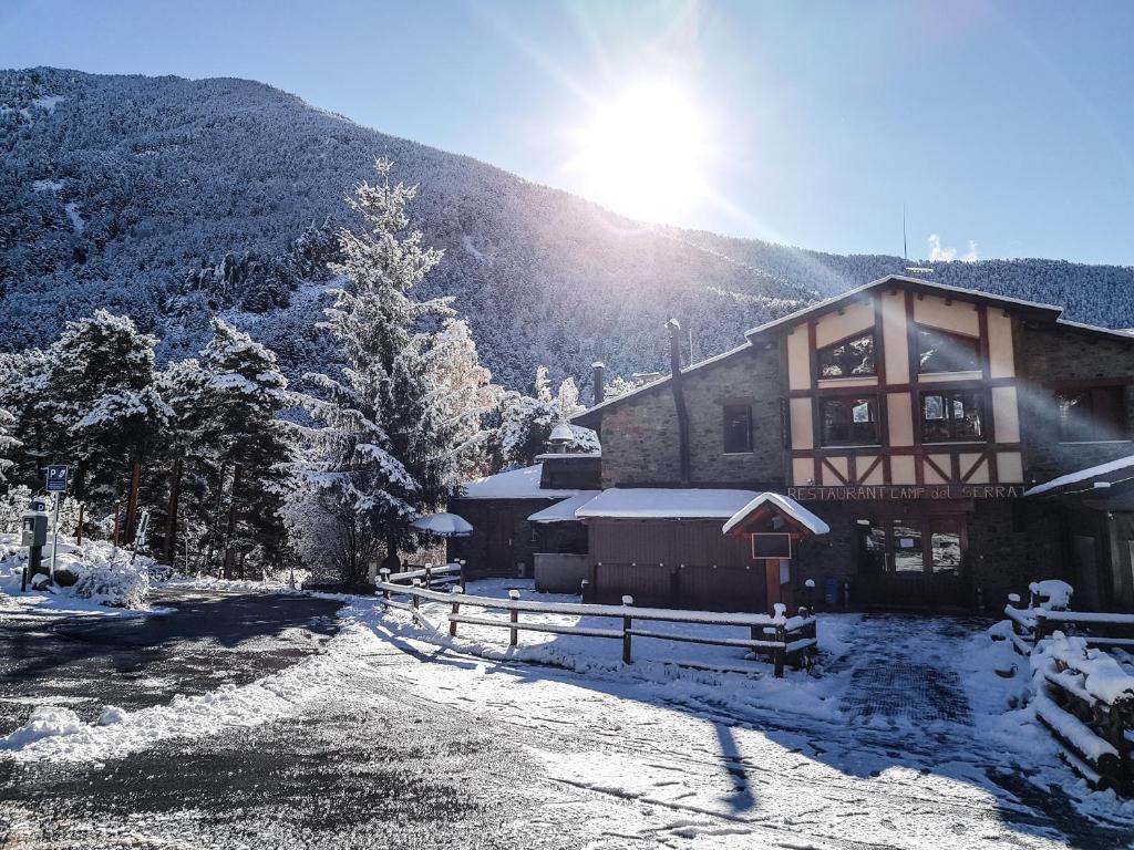 Hotel Camp del Serrat during the winter