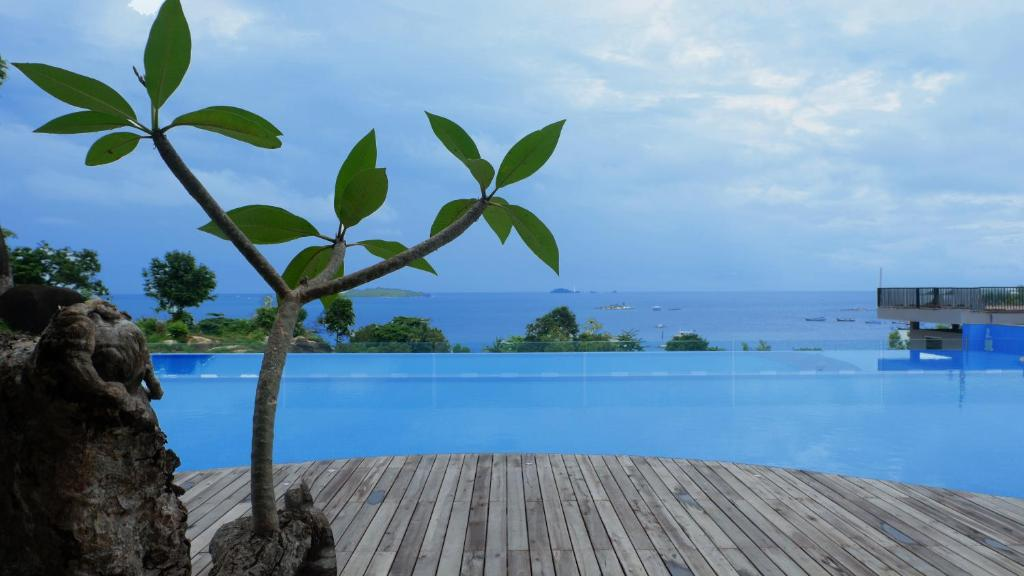 The swimming pool at or near Swiss-Belresort Tanjung Binga