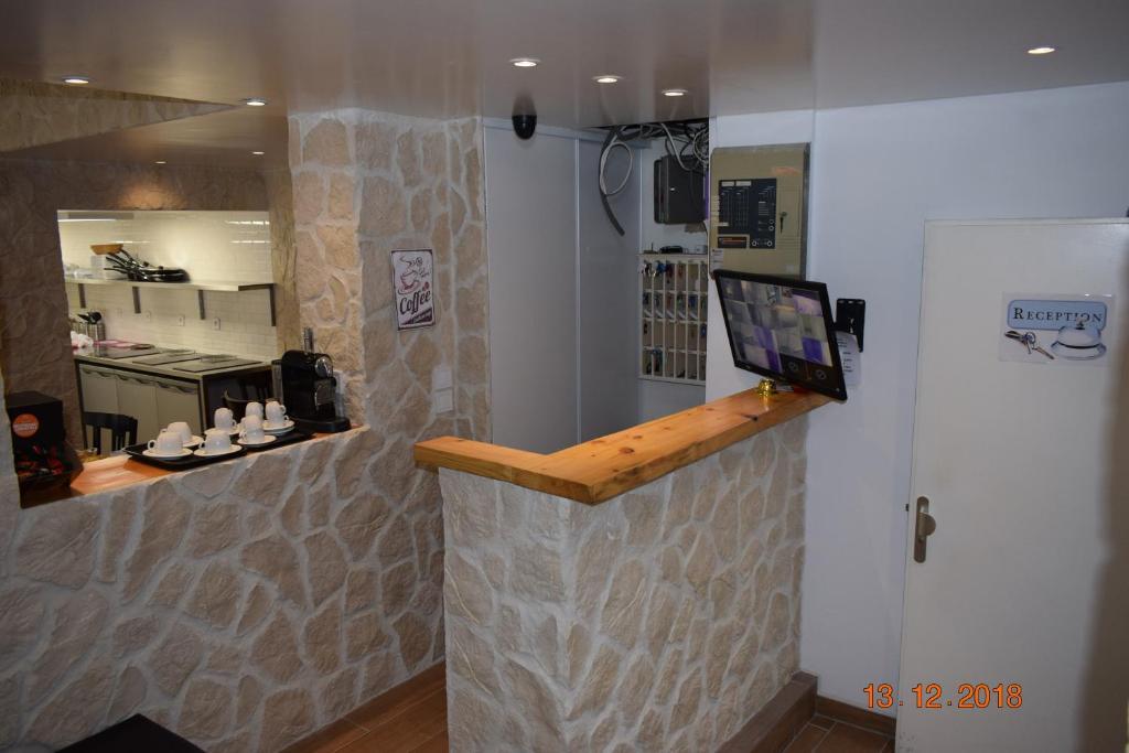 Küche/Küchenzeile in der Unterkunft Hostel Lyonnais
