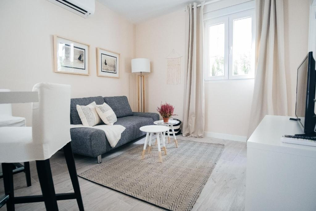 A seating area at Calle Toledo Apartment II - 1BR 1BT
