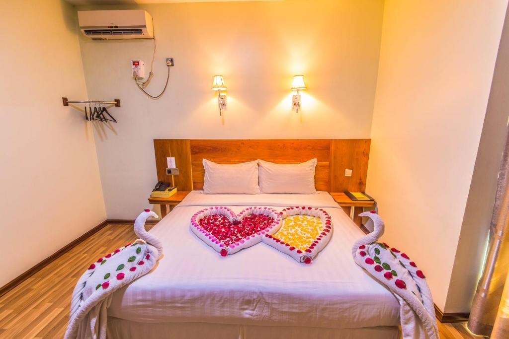 Cama o camas de una habitación en Hotel 8