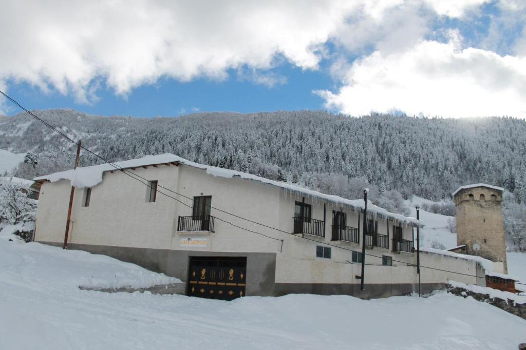 Maia's Guesthouse during the winter