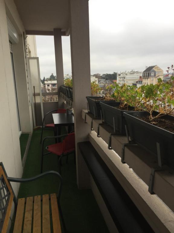 Balcon ou terrasse dans l'établissement APPARTEMENT AU CŒUR DE TARBES