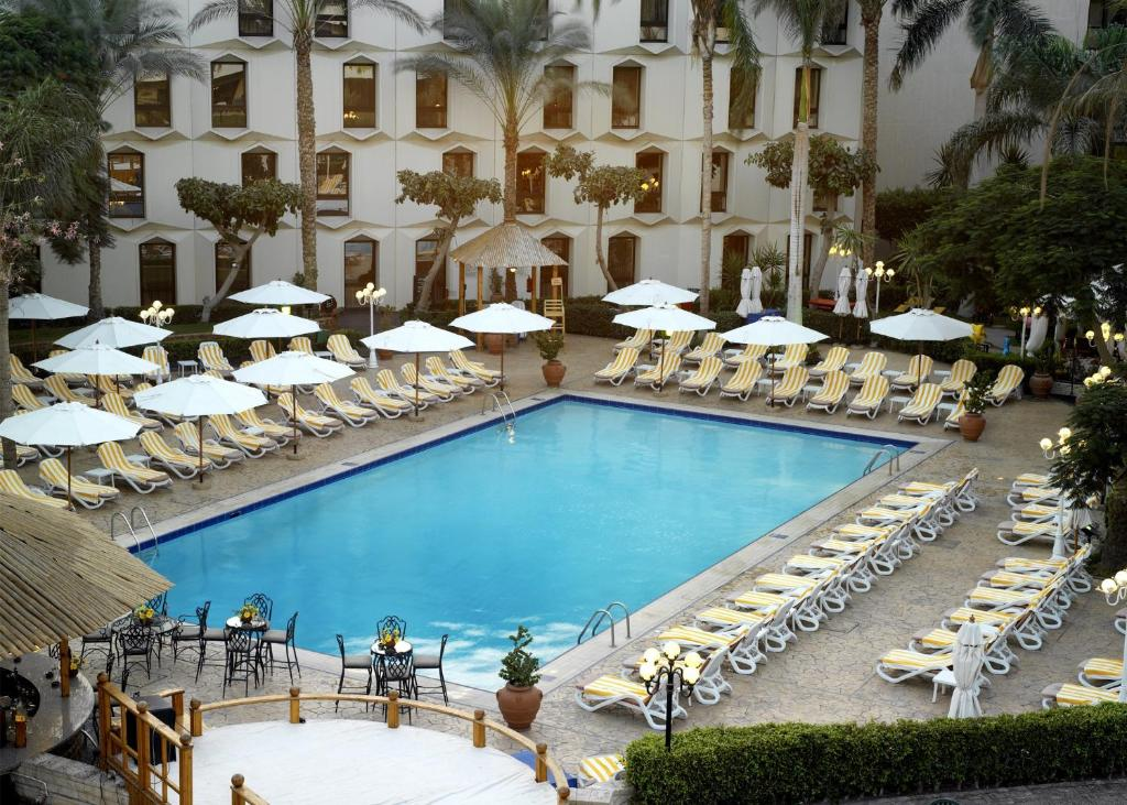 A view of the pool at Le Passage Cairo Hotel & Casino or nearby