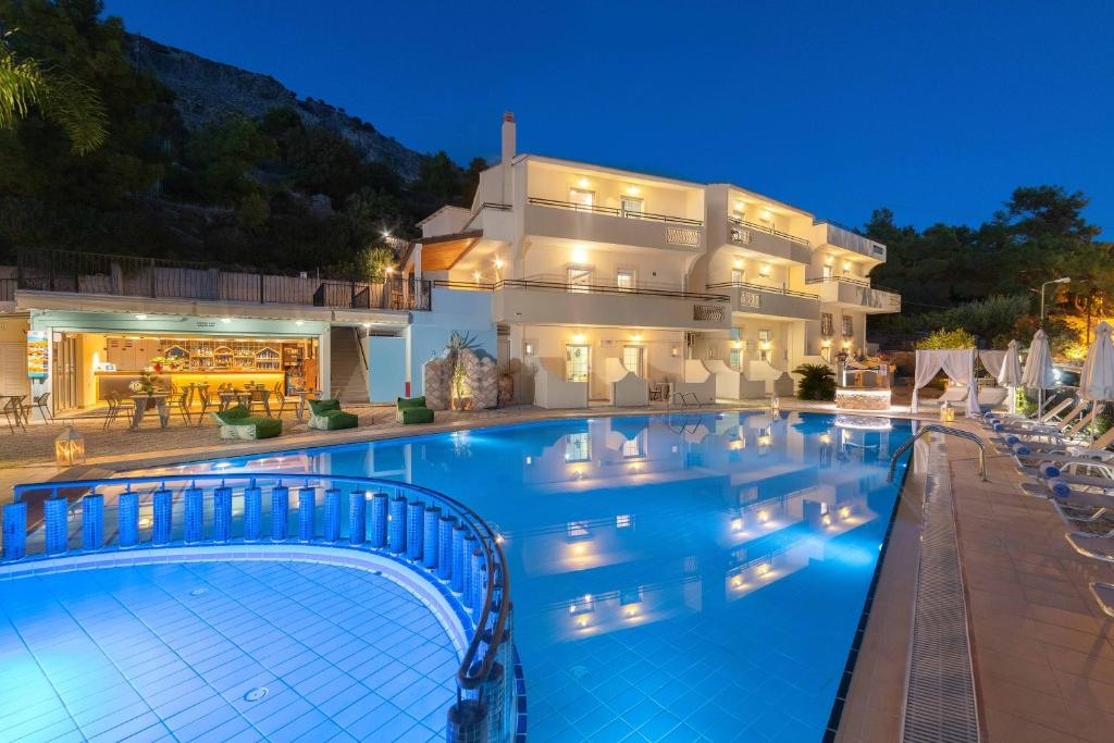 The swimming pool at or near Pefkos View Suites & Maisonette