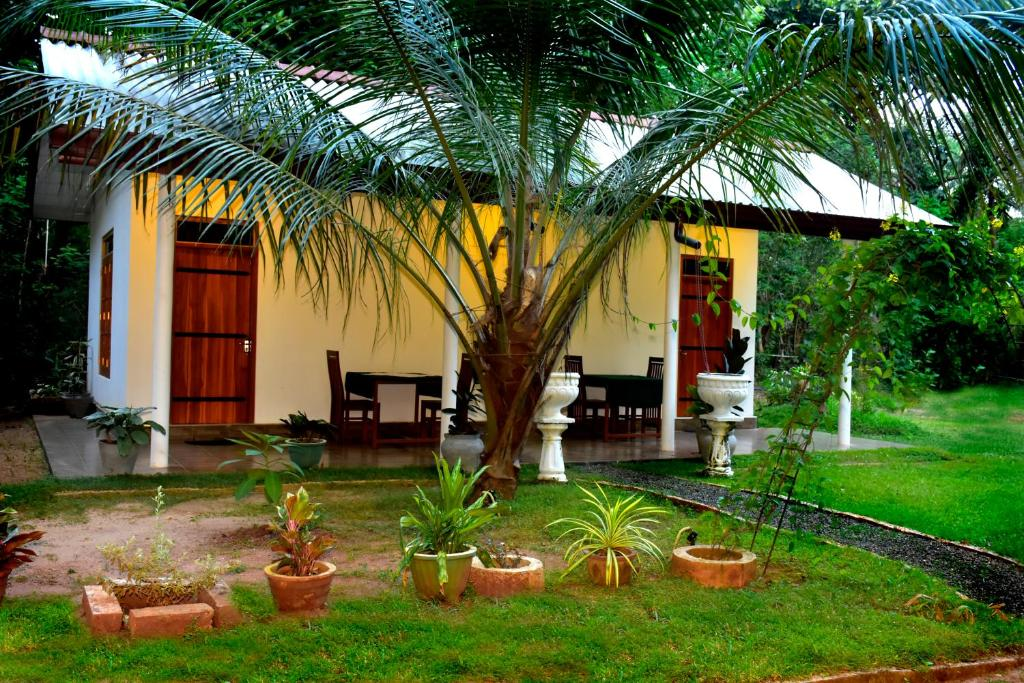 A garden outside Little Ele Safari Lodge