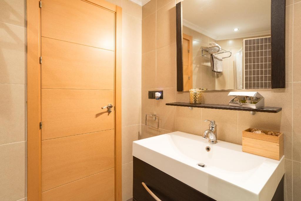A bathroom at Centro Y Playa