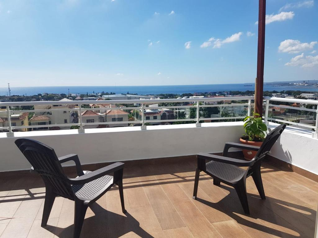 A balcony or terrace at Ocean View Santo Domingo