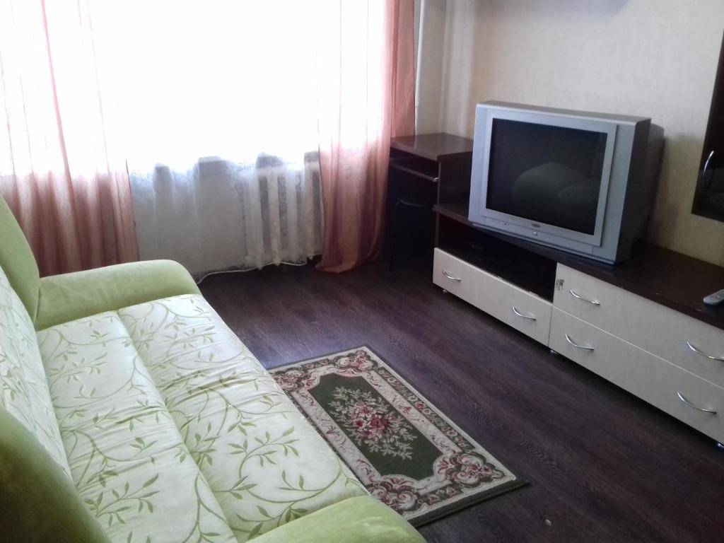 A television and/or entertainment center at Apartment on Prospekt Lenina