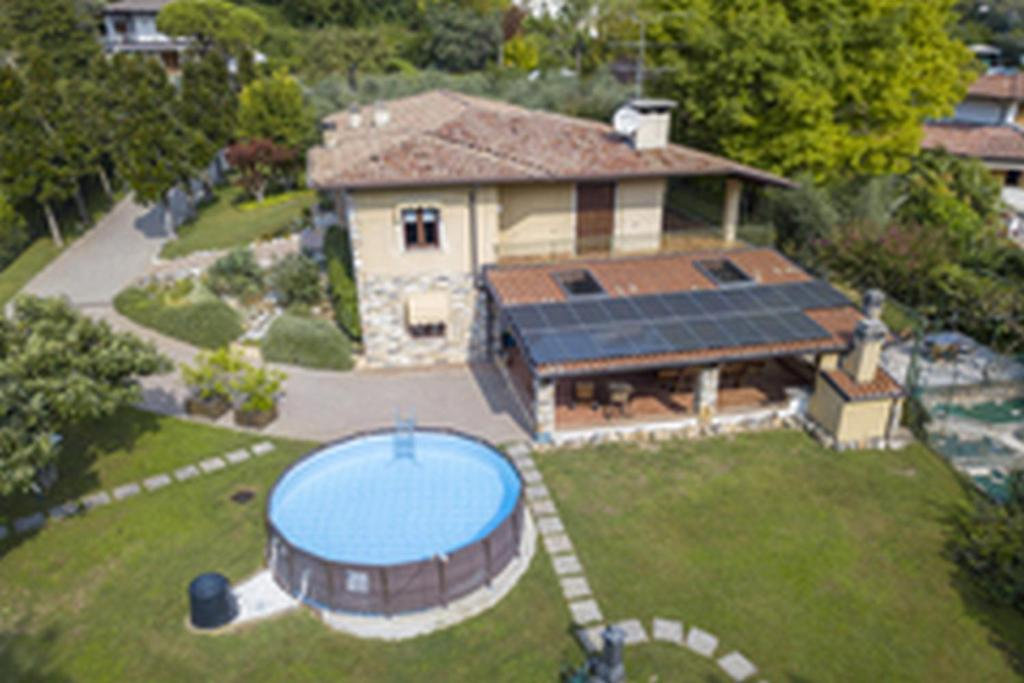 A bird's-eye view of Villa Oliveto