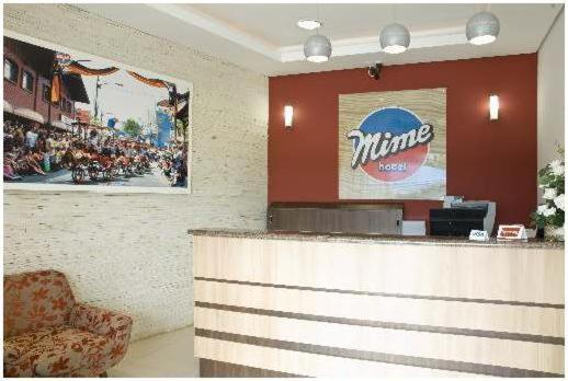 The lobby or reception area at Mime Hotel