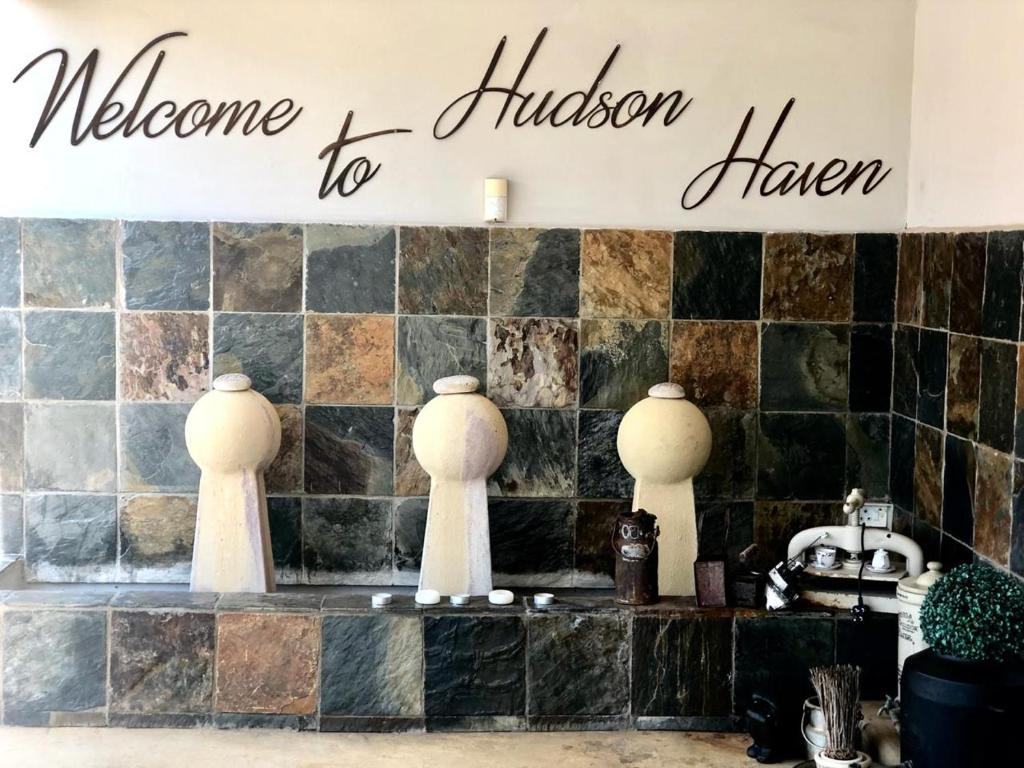 A bathroom at Hudson Haven