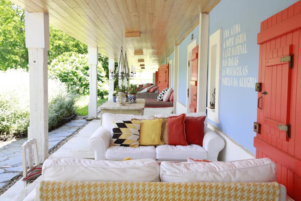 Uma área de estar em Herdade da Matinha Country House & Restaurant