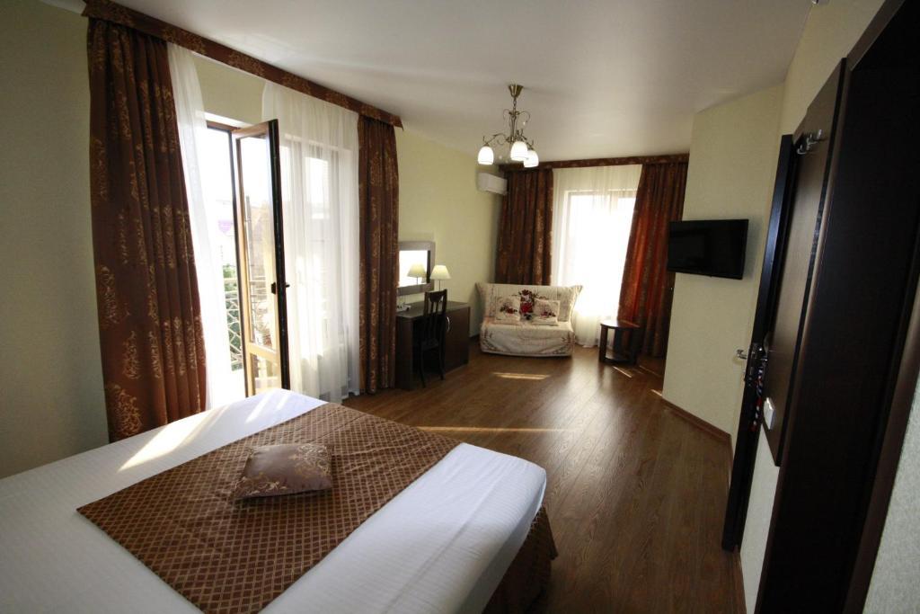 Letto o letti in una camera di Mechta Hotel