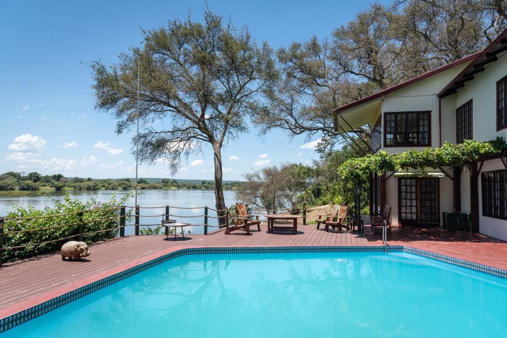 The swimming pool at or near Kayube Zambezi River House