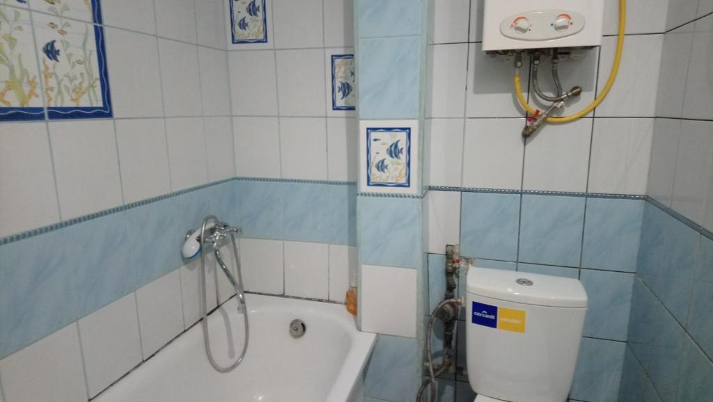 A bathroom at Apartment Old Lviv