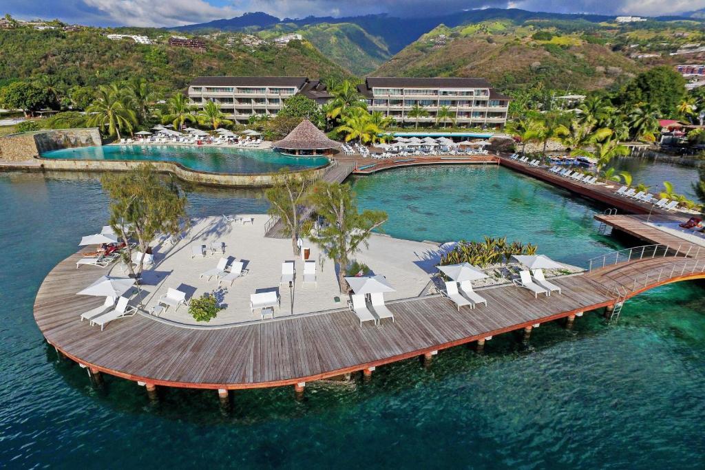 Majoituspaikan Manava Suite Resort Tahiti kuva ylhäältä päin