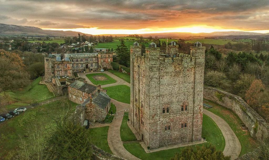 Appleby Castle с высоты птичьего полета
