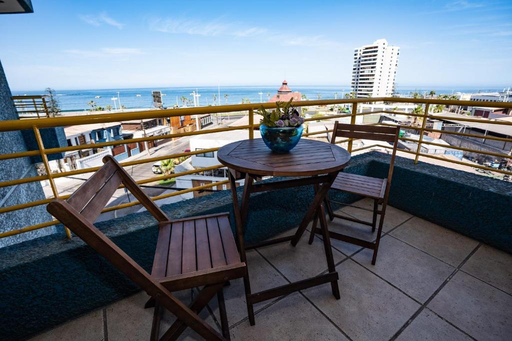 A balcony or terrace at Hotel Sunfish