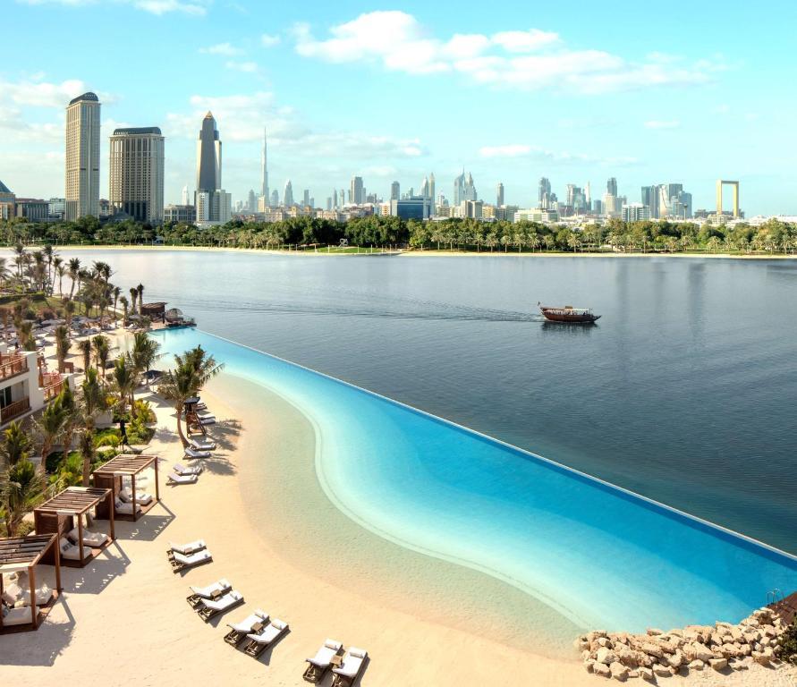 The swimming pool at or near Park Hyatt Dubai