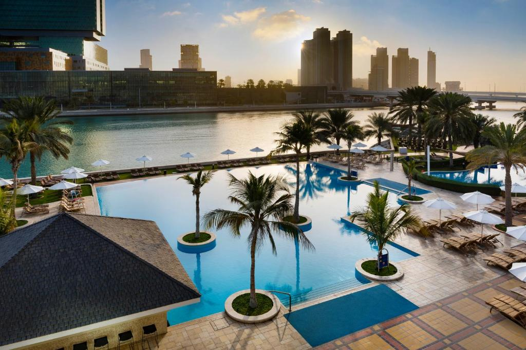 A view of the pool at Beach Rotana - Abu Dhabi or nearby