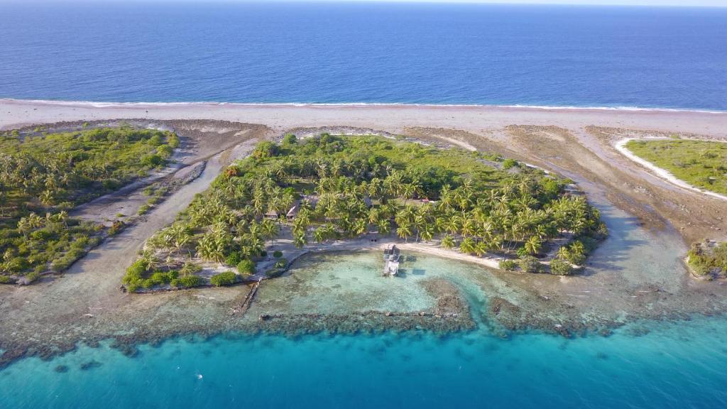 Vue panoramique sur l'établissement Pension Poerani Nui