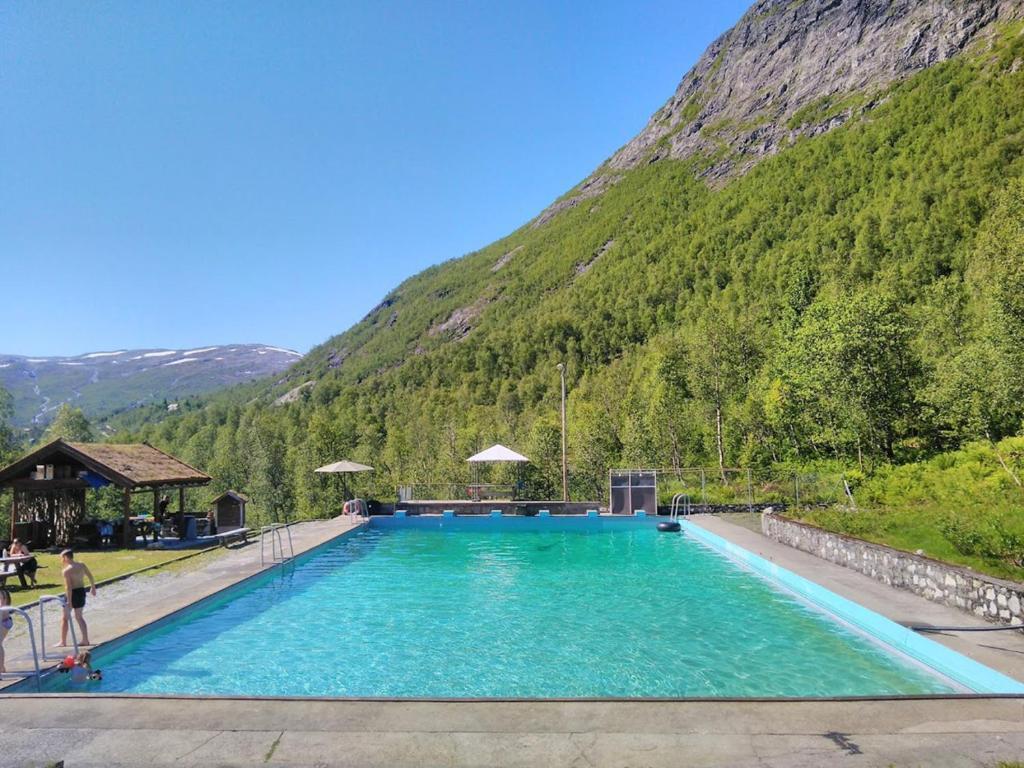 The swimming pool at or near Mjølfjell Mountain Lodge