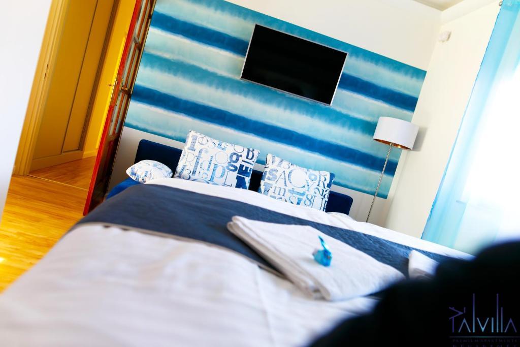 Cama o camas de una habitación en Pál Villa - Premium Apartments - Kecskemét