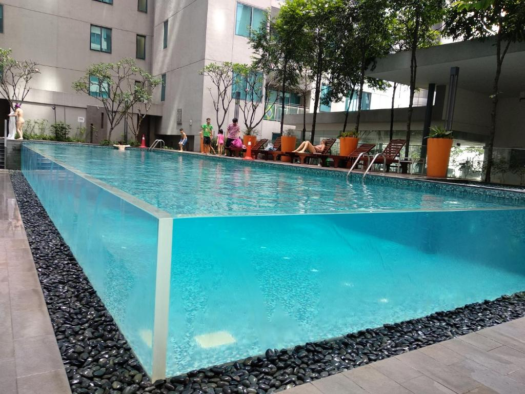 The swimming pool at or near Twin Towers Dorms