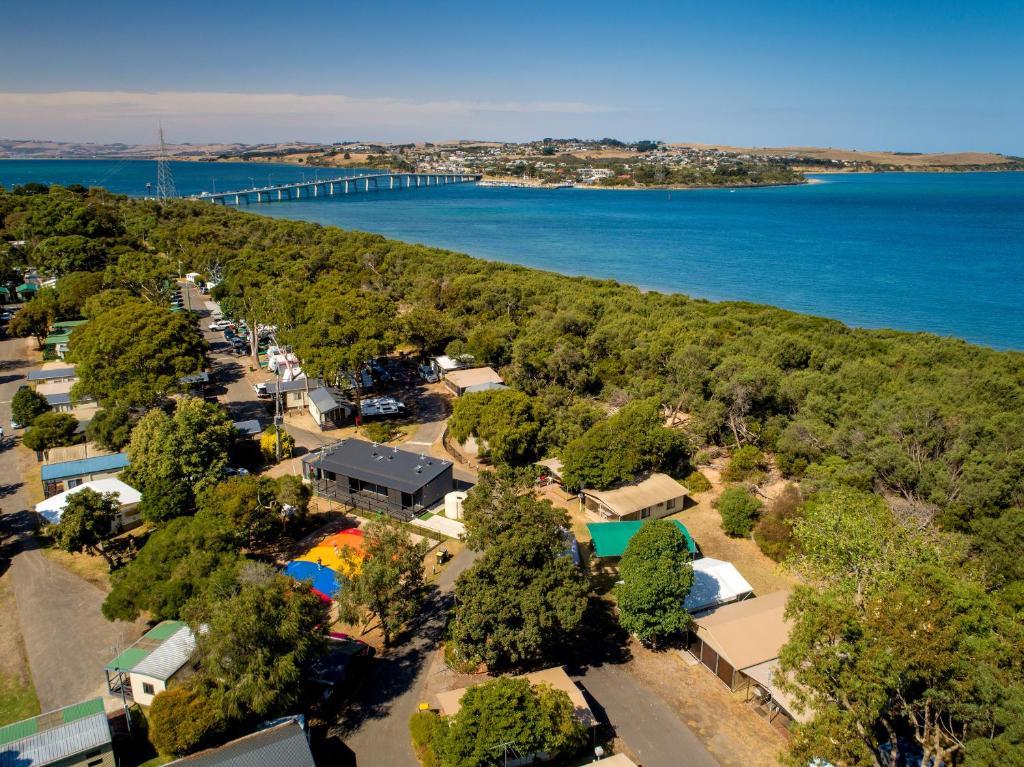 A bird's-eye view of BIG4 Phillip Island Caravan Park