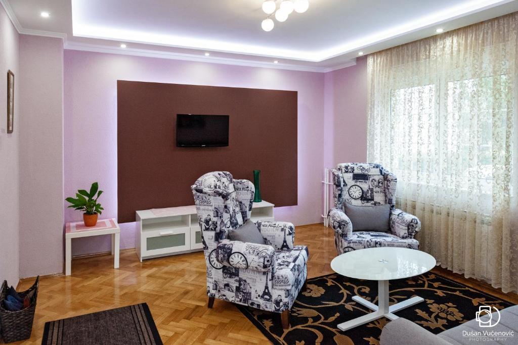 A seating area at House 5 Banja Luka