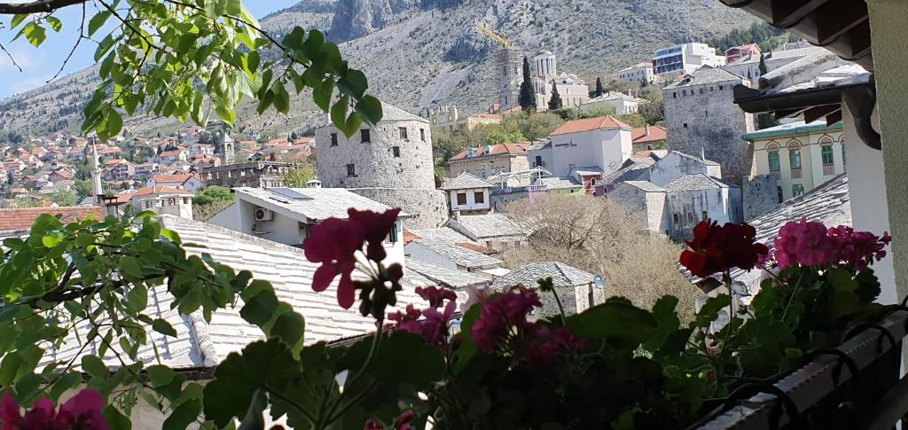 Uma vista aérea de Pansion Villa Cardak