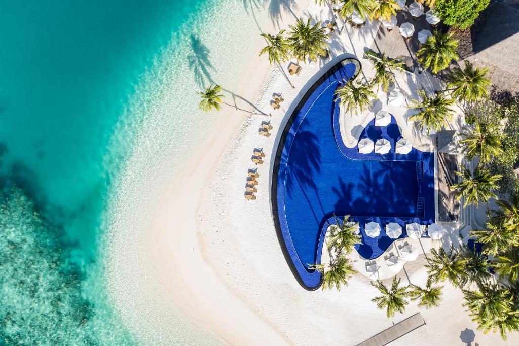 A bird's-eye view of Conrad Maldives Rangali Island