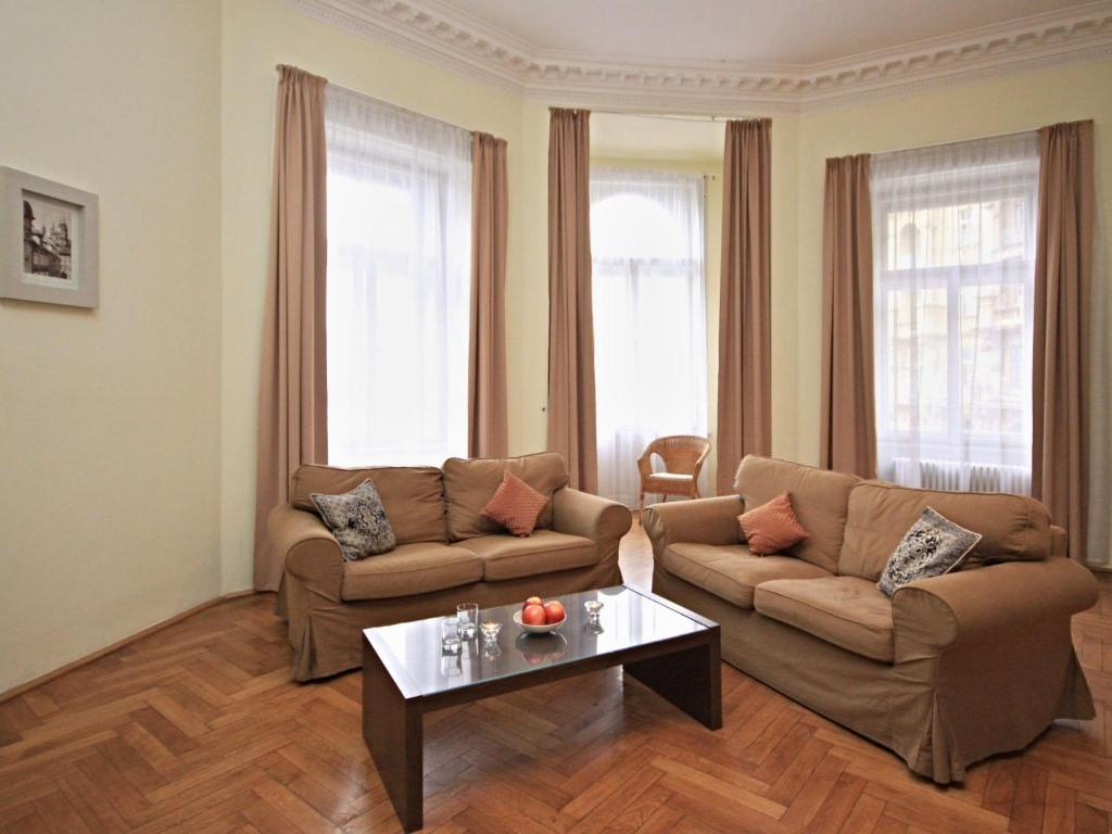 Гостиная зона в Apartment Riverbank.10