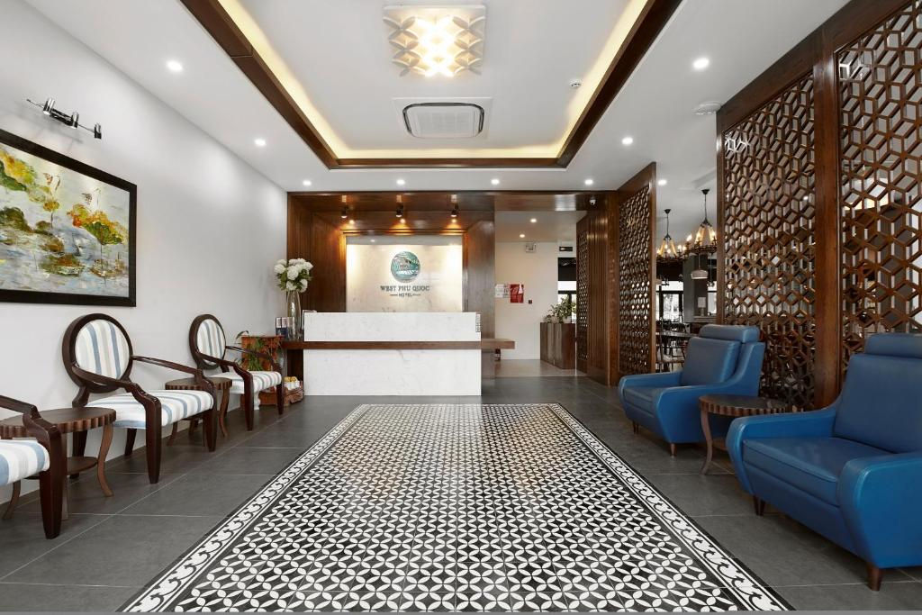 The lobby or reception area at West Hotel Phu Quoc