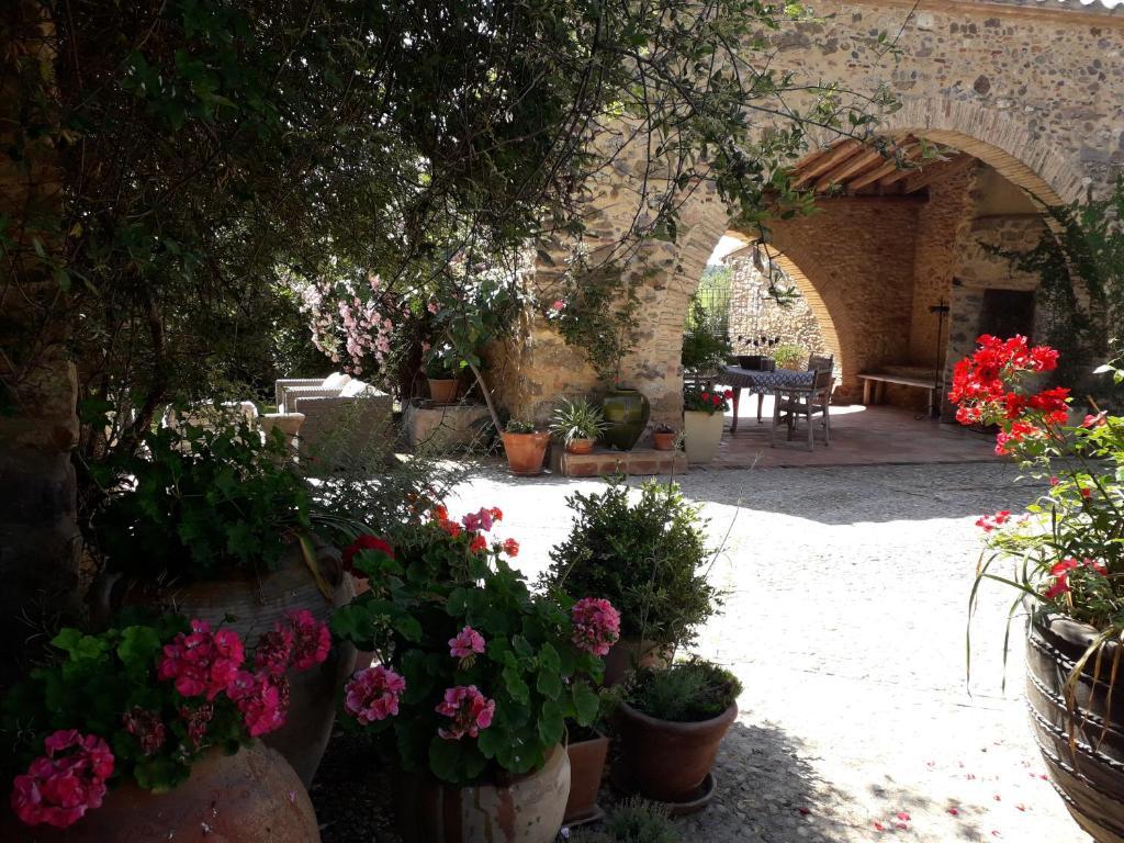 Jardín al aire libre en Can Carbó de les Olives