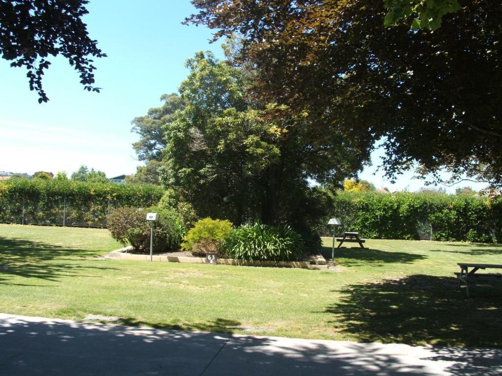 A garden outside Kennedy Park Resort Napier