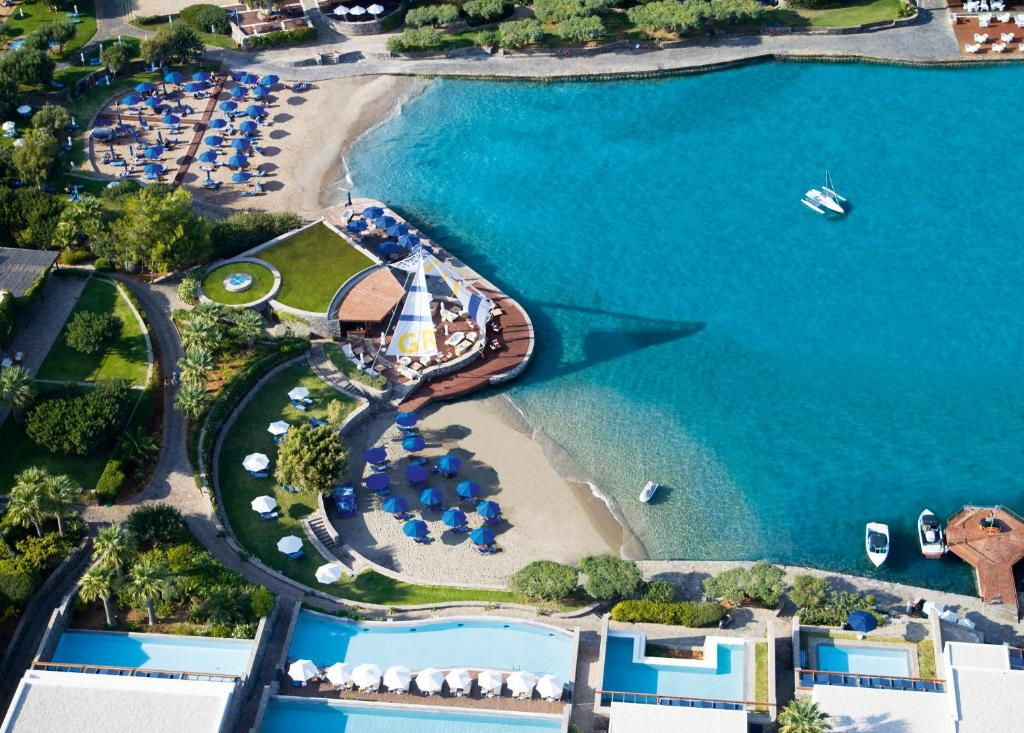 A bird's-eye view of Elounda Bay Palace, a Member of the Leading Hotels of the World
