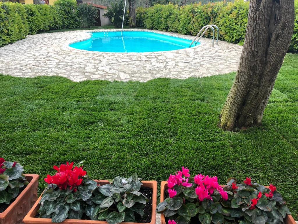 The swimming pool at or near B&B La Quiete