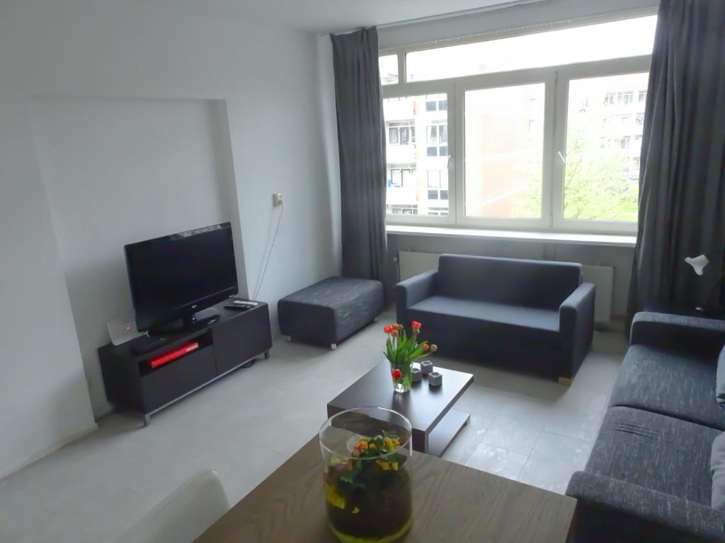 A seating area at Amsterdam Rembrandtpark Apartment