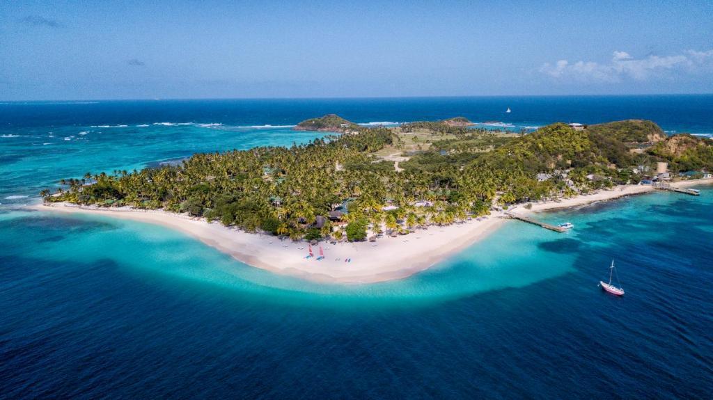 Blick auf The Palm Island Resort aus der Vogelperspektive