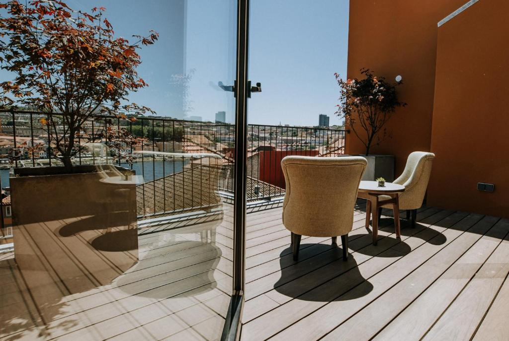 A balcony or terrace at Exmo. Hotel