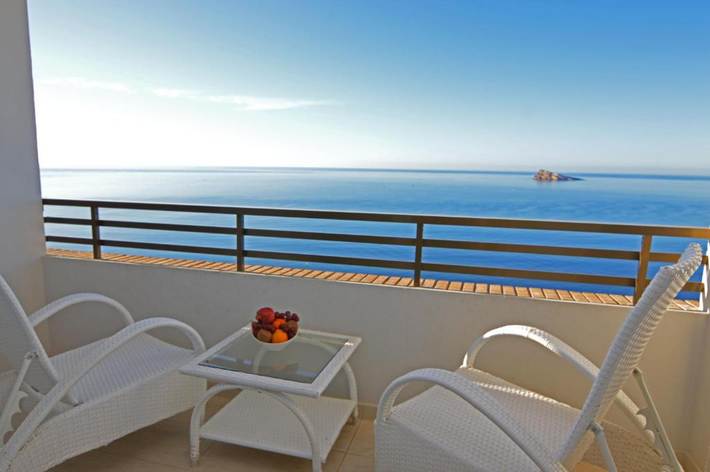 A balcony or terrace at Les Dunes Comodoro