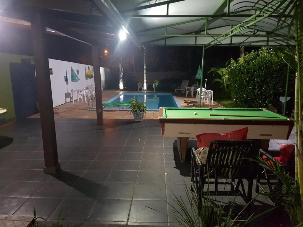 A pool table at Pousada Naipi