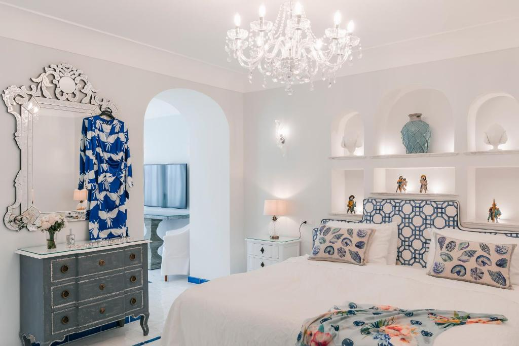 Katil atau katil-katil dalam bilik di Hotel Villa Maria