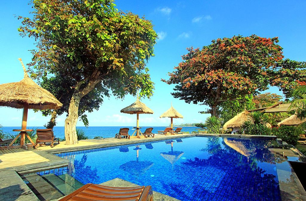 The swimming pool at or close to Sunsethouse Lombok