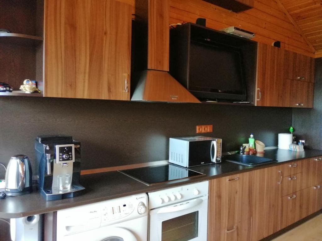 A kitchen or kitchenette at Planinski Polah House