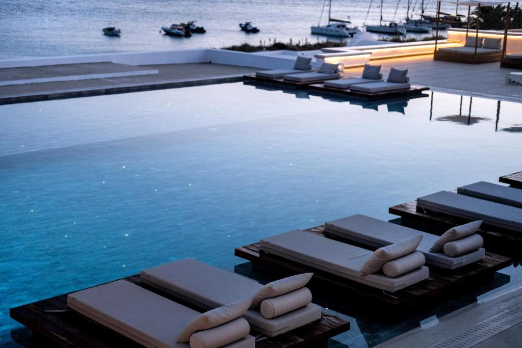 The swimming pool at or near Manoula's Beach Mykonos Resort